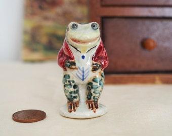 Beatrix Potter - China Frog Figurine - Jeremy Fisher by Peggy Foy