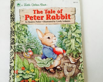 The Tale of Peter Rabbit A Little Golden Book / Vintage Children's The Tale of Peter Rabbit by Beatrix Potter A Little Golden Book #307-11