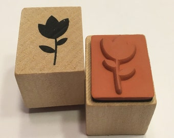 small Tulip rubber stamp, 20 mm (BR88)