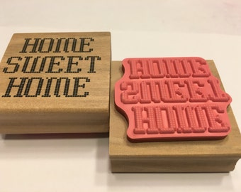 Home Sweet Home stamp, 45 mm (SB1)