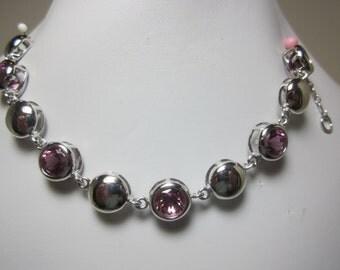 Color Change Cranberry Zandrite Bracelet - Cranberry to Purple