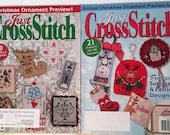 2 JCS Christmas Ornament Preview Issue Cross Stitch Magazines