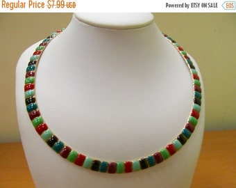 ON SALE Retro Colorful Enameled Collar Item K # 874