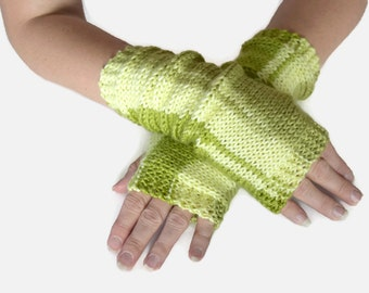 Knit Fingerless Gloves Arm Gloves Wrist Warmers Gloves