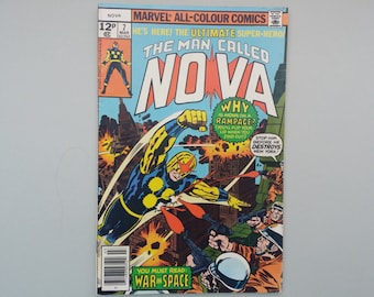 The Man Called NOVA Issue 7 / 1976 / Vintage Bronze age Marvel comic / Jack Kirby Sal Buscema / Cosmic Marvel