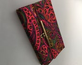 1960s Vintage PSYCHEDELIC CLUTCH BAG Pucci Style Purse Paisley Print Purse