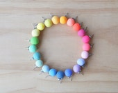 Handmade Polymer Clay Stud Earrings with Surgical Steel Posts - Rainbow - Choose Your Colour