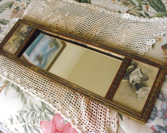 Gorgeous Hollywood Regency Mirror & Art - made in England and The Netherlands - Gold gilt wood frame - Old World Styling - Unique