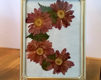 Sale - C is for Classy Pressed Flower Art