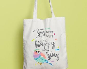 Sing Bird Tote Bag