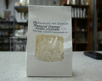 "Damar Resin Crystals ground to 1/4"" or smaller 1 lb."
