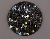 4 size! Crystal rocks CRYSTAL AB on black Swarowski 15mm 20mm 25mm 30mm