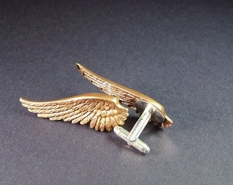 For Him Bronze Brass Gold Wing Cufflinks