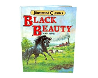 Vintage Black Beauty Book, Illustrated Classics, Black Beauty, Anna Sewell, Horse, Fiction, Classic, Childrens Book, Epsteam