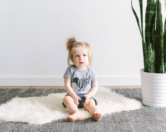 Baby Bird Bodysuit • Unique Infant Outfit • Hand Lettered Bird Bodysuit • Mother Hen Matching Illustrated Animal Baby Outfit • FREE SHIPPING
