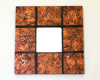Stained Glass Mirror, Mosaic Wall Mirror, Cool Wall Decor, Unique Home Accents, Room Accessories, New Home Housewarming Gifts