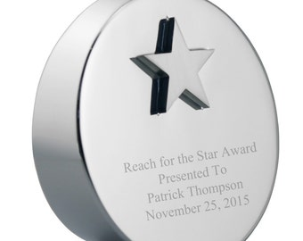 Engraved Star Paperweight Award