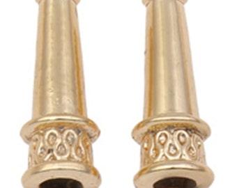 6pc 20x7mm gold finish  cone shape metal bead cap-7682L