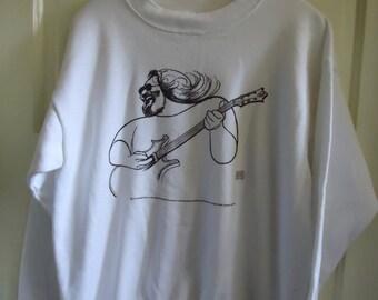 Vintage 90s JERRY GARCIA Crewneck Sweatshirt sz L