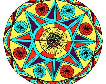 Mandala Desert Star