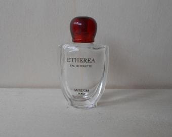 Vintage mini perfume bottle, empty perfume bottle, Etherea Battistoni perfume bottle,collectible.