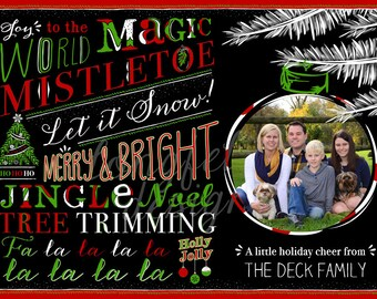 Holiday Cheer - Photo Christmas Card - Digital File Only - Ornament Photo