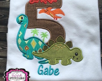 Dinosaur Birthday, Dinosaur Shirt, Stegosaurus Shirt, Boy Birthday Shirt, Birthday Shirt