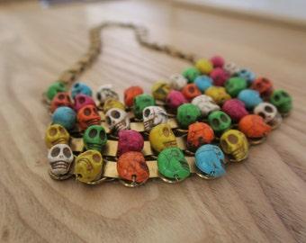 Collection PARIS-MEXICO - Skulls bib