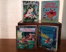 Hansel and Gretel, little Red Riding Hood, The Elves and the Shoemaker and Blue Book of Fairy Tales little golden books
