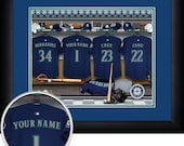 PERSONALIZED & FRAMED MLB Seattle Mariners Sports Prints