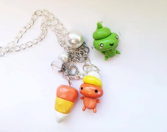 sale - candycorn necklace