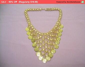 SALE bib statement necklace, unique statement necklace
