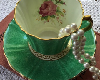 Stunning  Old Royal Bone China  Teacup and Saucer Set made in England