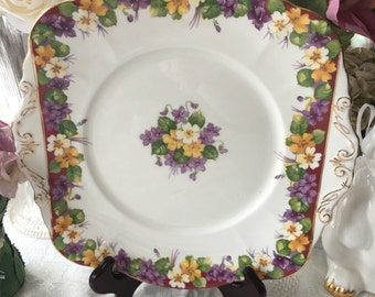 Rare Paragon  Spring Melody Cake Plate