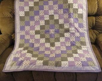 Lilac Trip Around The World Baby Blanket