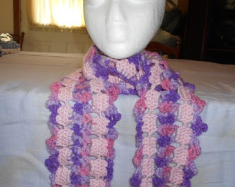 Purple/Lavender MEDIUM LACY SCARF to fit under your coat.