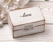 Ring Bearer Box, Wedding Ring Box, Personalized Ring Box, Rustic Ring Box, Wedding Ring Holder,Ring Pillow Bearer, Wood Box