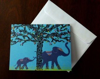 Set of 8 Designer Note Cards: Elephant in the Room