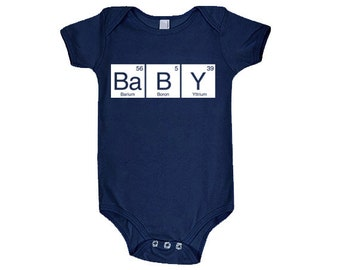 Baby Periodic Table Cotton Baby One Piece Bodysuit - Infant Girl and Boy