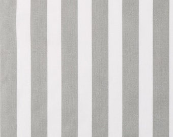 Cotton Fabric -  Gray and White Stripe Fabric by the Yard - Quilt Fabric - Apparel Fabric - Home Decor Fabric - Fat Quarters