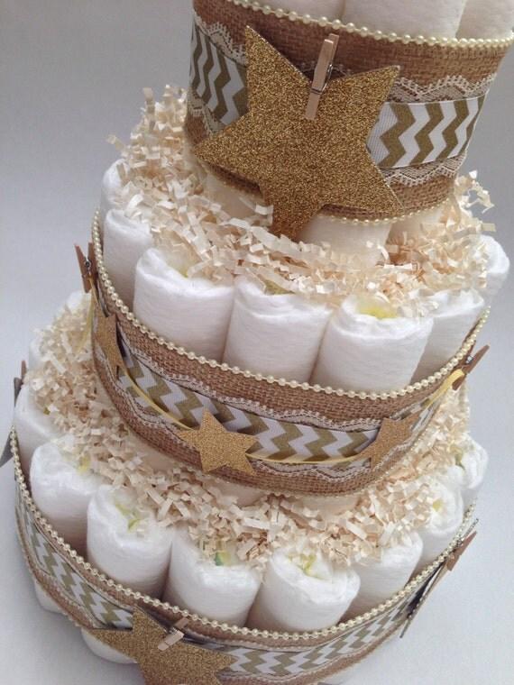 Twinkle Twinkle Little Star Diaper Cake Gender Neutral
