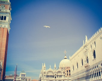 Venice Art - Italy Photography - Italy Art, Venezia Photography - St Mark's Square - Venice Italy - Vintage, Retro - Piazza San Marco