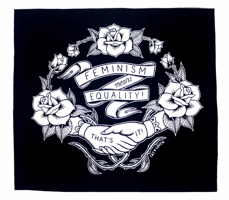 Feminism Back Patch Black