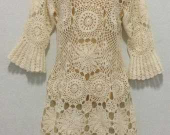 Crochet Boho/Crochet Vintage dress,Spring ,Summer ,Women Clothes /  No.CB90