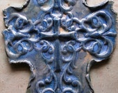 Pale Blues Wall Cross Unique Multi Glazed On Sale