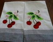 Set of Cherry Cup Towels