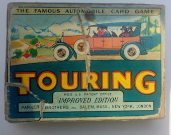 Vintage Touring Card Game The Famous Automobile Card Game Antique Original Game