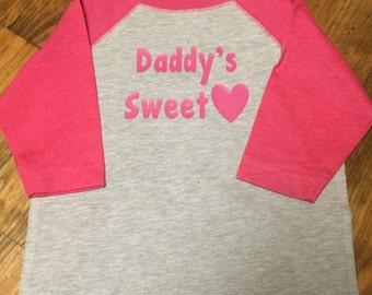 Daddy's Sweetheart raglan shirt