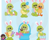 2016 I Turtley Love Easter  Clip art  Clipart Graphics  Commercial Use