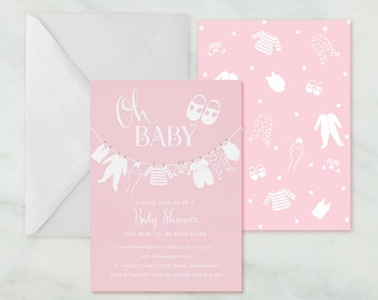 Printable Party Invitation PDF - 4 Colours - Baby Shower Layette